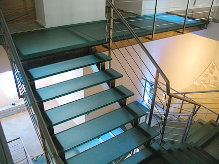 Glass Interior Staircase