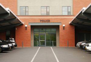 Bullet resistant glass at Police Station