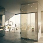 Glass Doors in office building