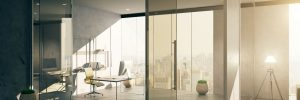 Glass Doors in office building