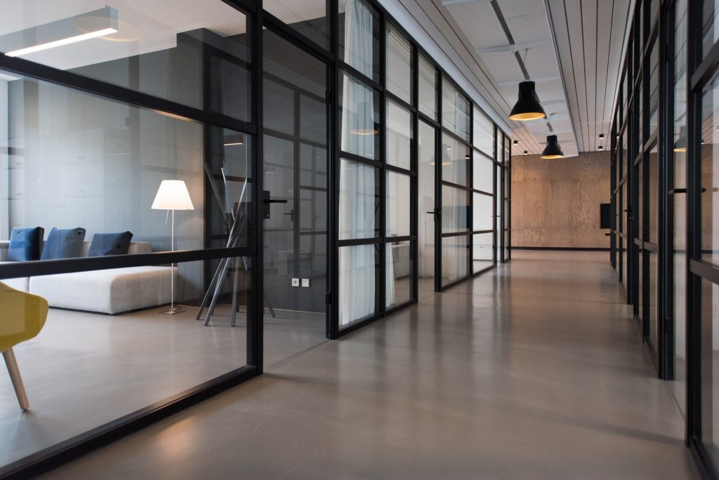 Laminated Glass Doors for Office Building