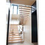 glass railing stairs