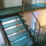 Glass Walkway with staircase