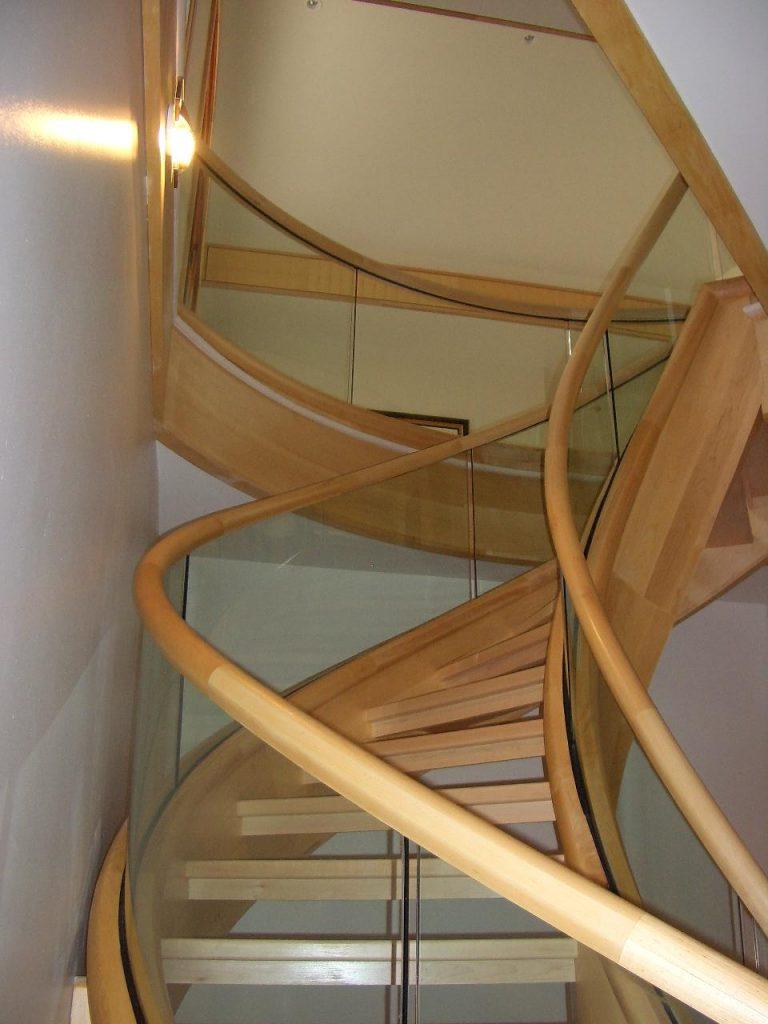 Glass rails in home